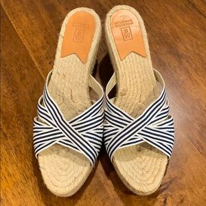 Stubbs & Wootton Espadrilles striped wedge slide